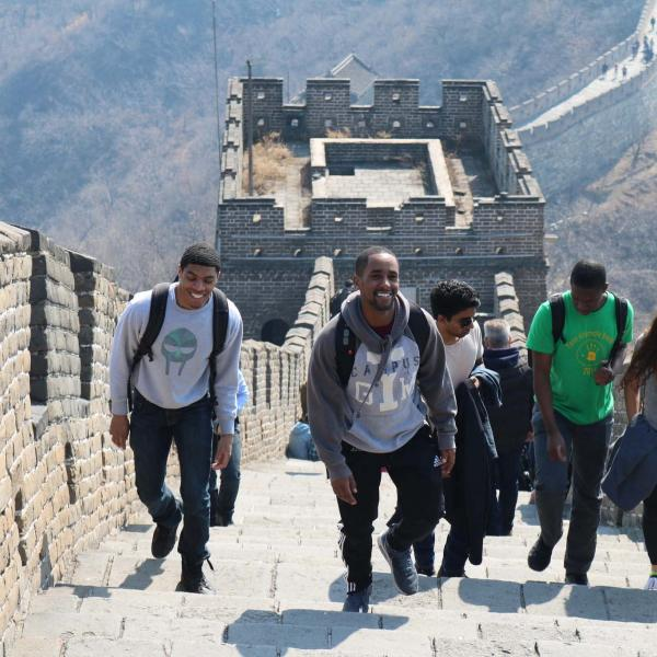 Penn students in China